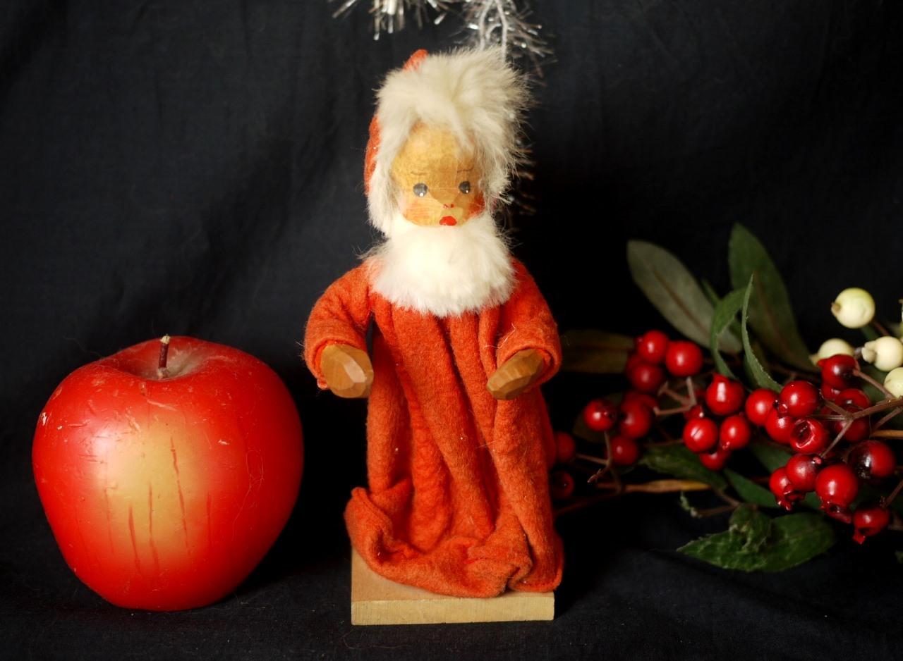 聖ニコラウス サンタクロース クリスマス人形 木彫りハンドメイド