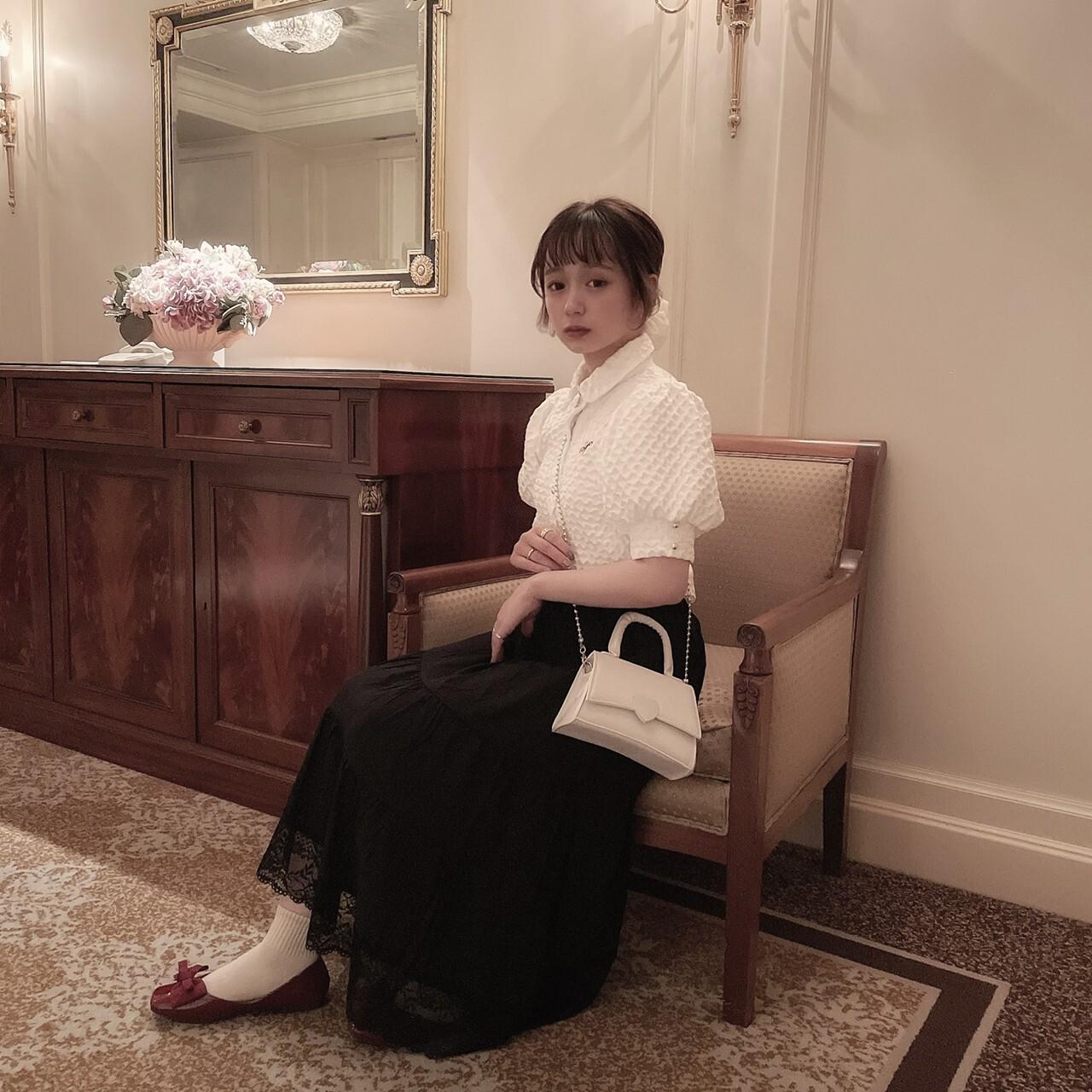 LAST3【meltie】tiered lace skirt