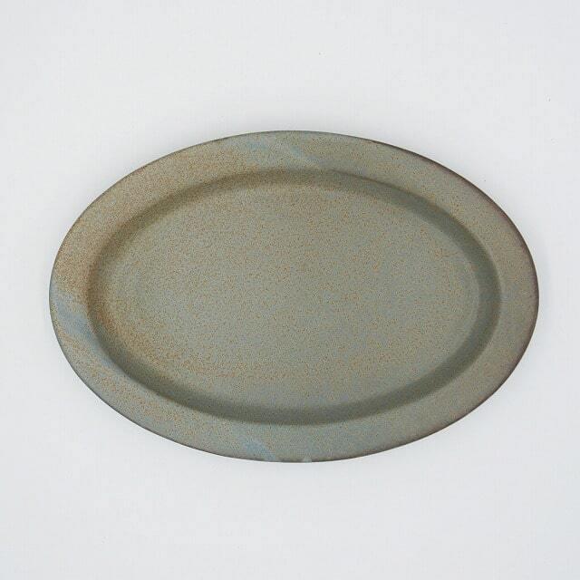 Ancient Pottery (エイシェントポタリー) OVAL PLATE (オーバルプレート) GRAY