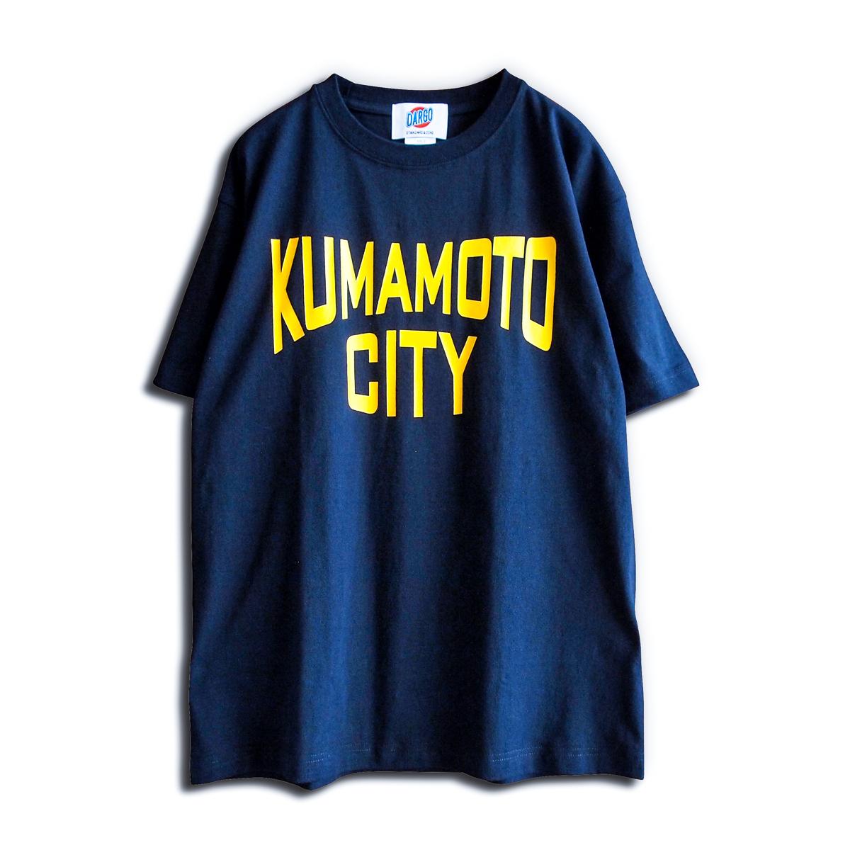 """【DARGO】""""KUMAMOTO CITY"""" T-shirt (NAVY)"""