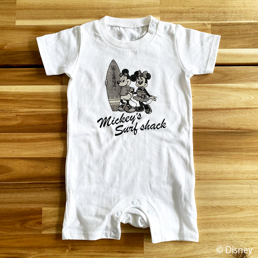 ★Baby★ <Mickey's Surf shack> Rompers - White