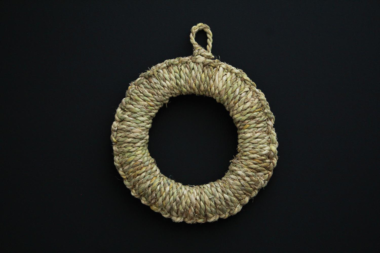 わらの鍋敷き・丸輪(S)