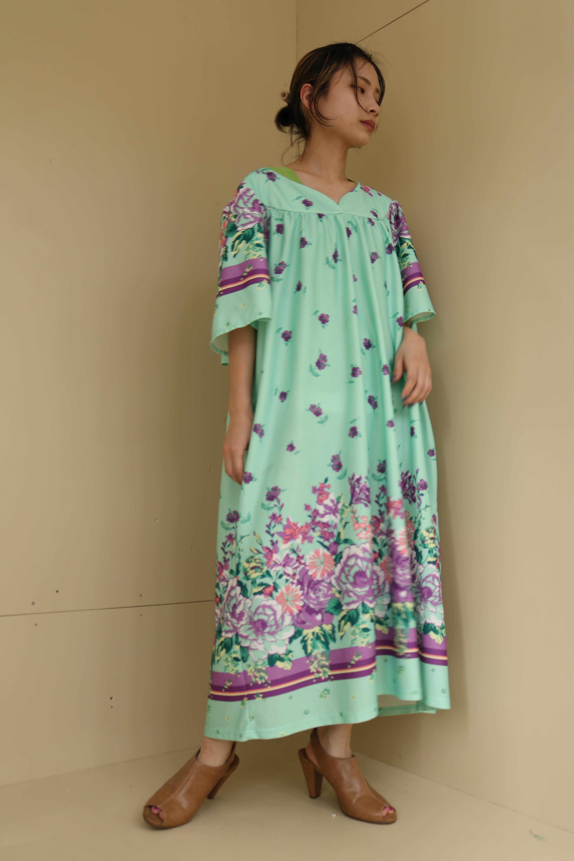 old flower pattern  dress / 6SSOP22-05