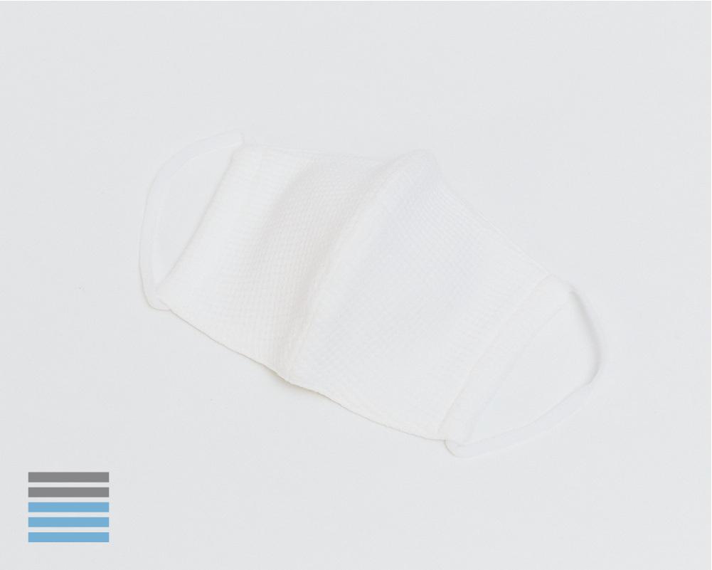 スタンダードマスク ワッフル オフホワイト【K】こどもマスク
