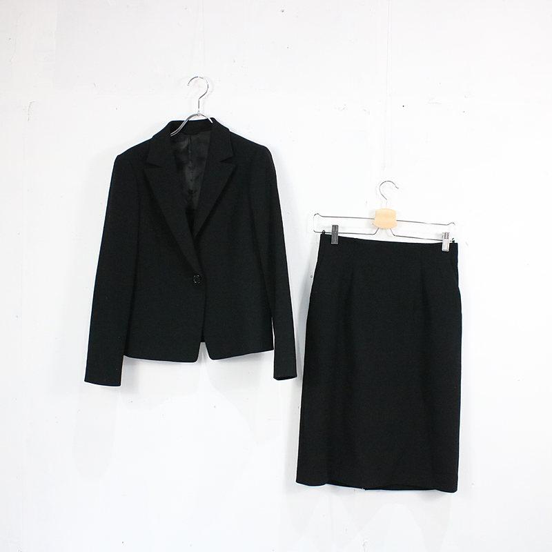 ANAYI / アナイ | ANAYI アナイ /1Bジャケット スカート セットアップスーツ/38/ブラック | レディース
