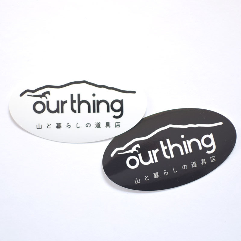 ourthing オーバルステッカー 2枚セット