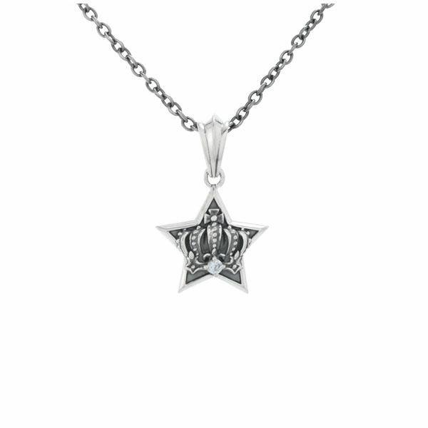 ロイヤルスターチャーム シルバーネックレス AKP0102 Royal Star Charm Silver Necklace