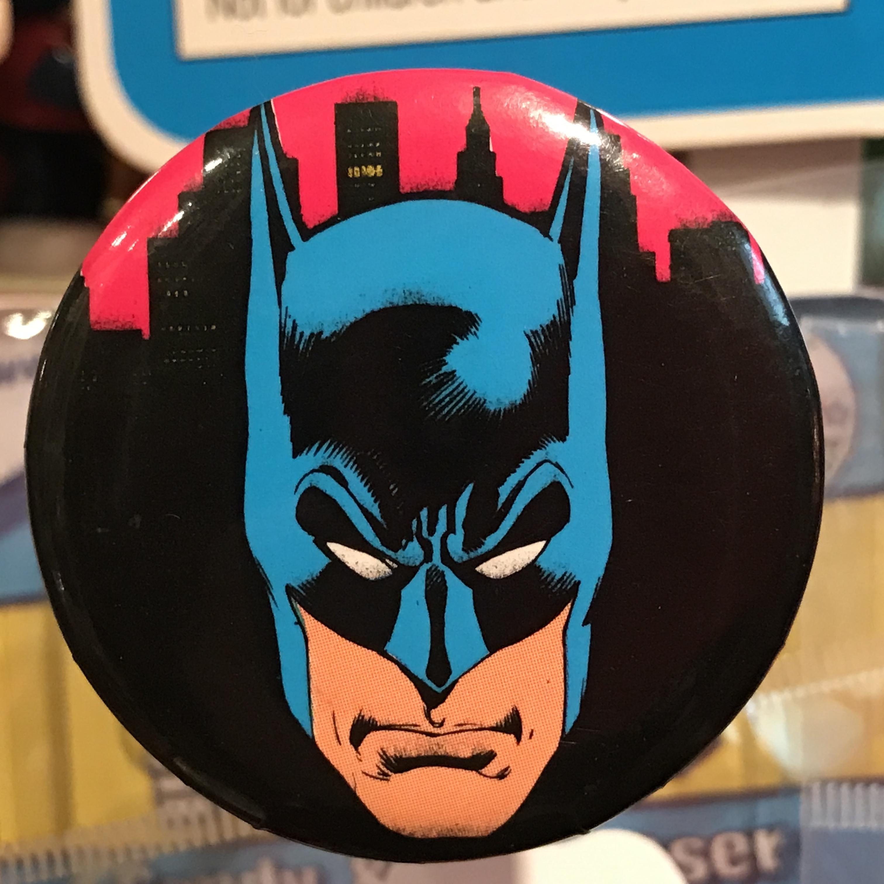 バットマン オールド 缶バッジ 顔ver.
