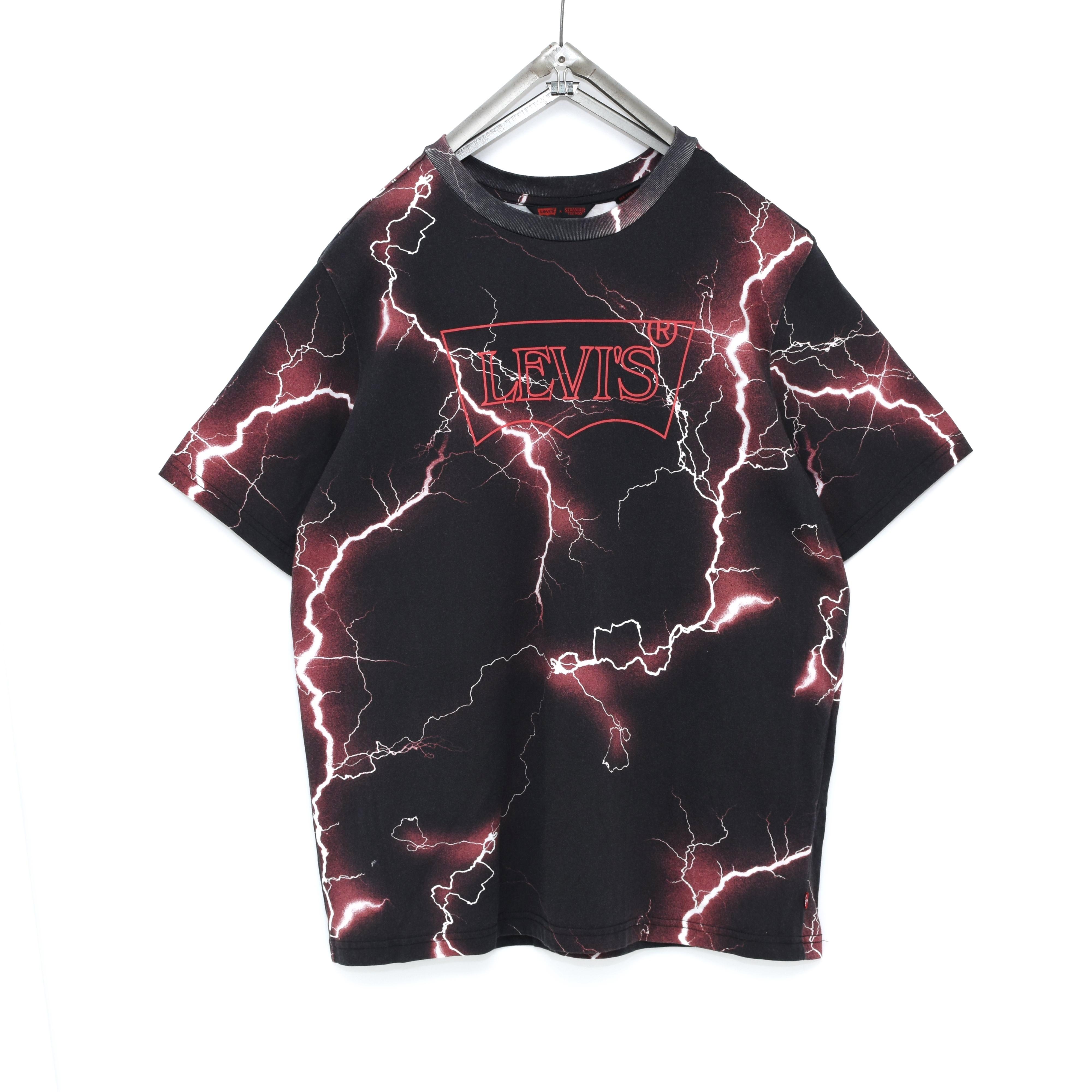 LEVI'S × Stranger Things サンダー柄 Tシャツ ストレンジャーシングス