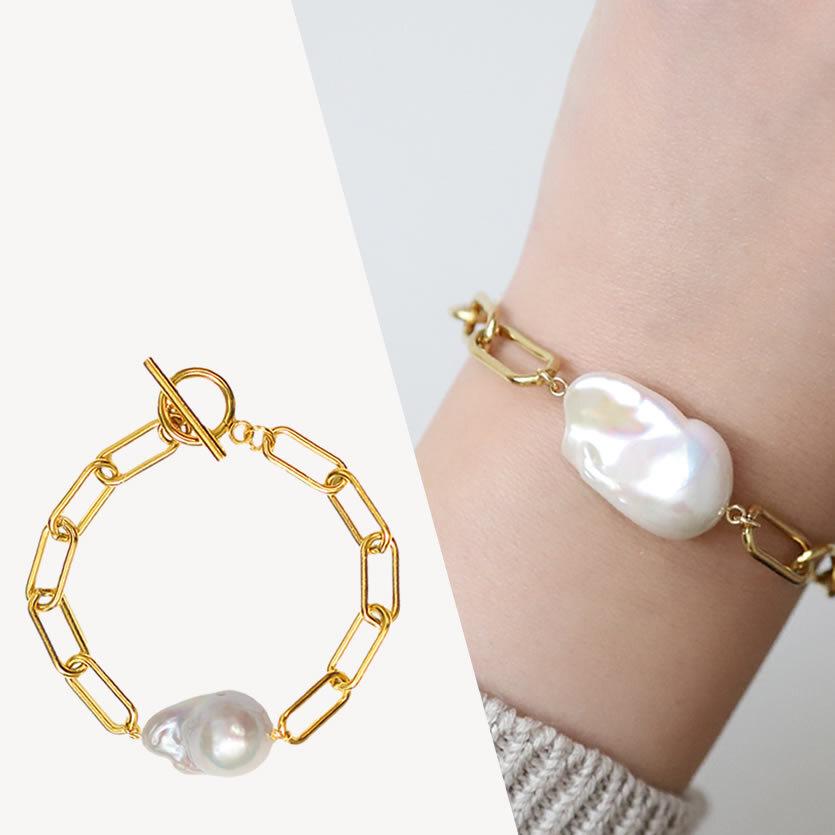 <選べるパール>【Sクラス】baroque pearl  bracelet