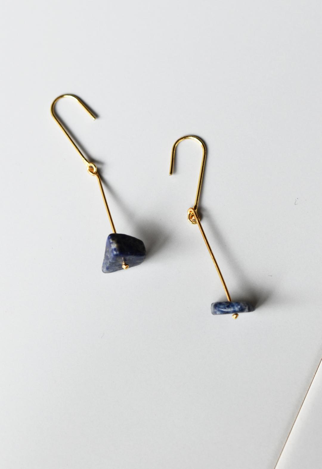 notice stone pierce / C / lapis lazri