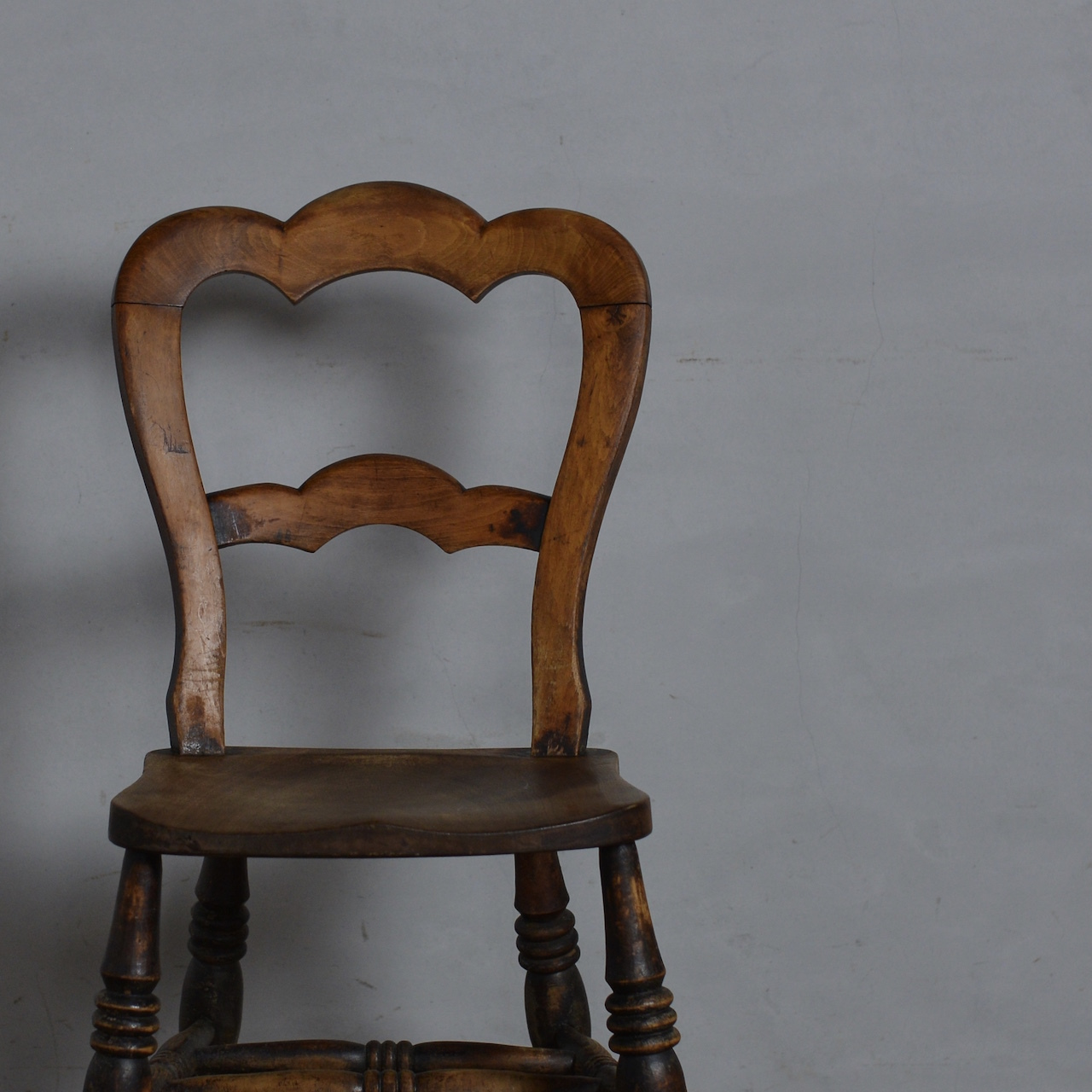 Balloon Back Kitchen Chair / バルーン バック キッチン チェア 【A】〈ダイニング チェア・椅子・カントリー〉