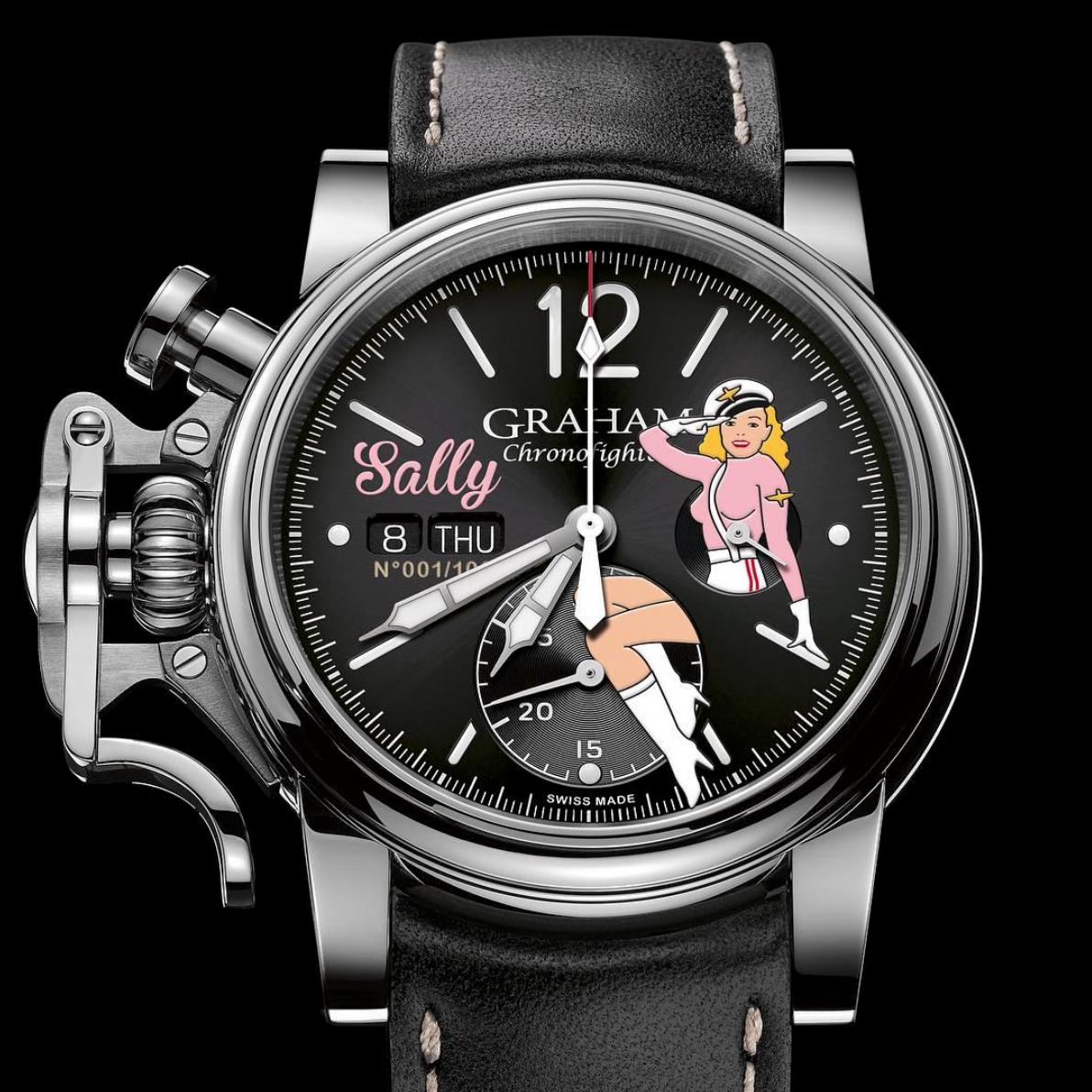 【GRAHAM グラハム】Chronofighter Vintage Nose Art Ltd クロノファイターヴィンテージ ノーズアート『Sally サリー』世界限定100本/国内正規品 腕時計