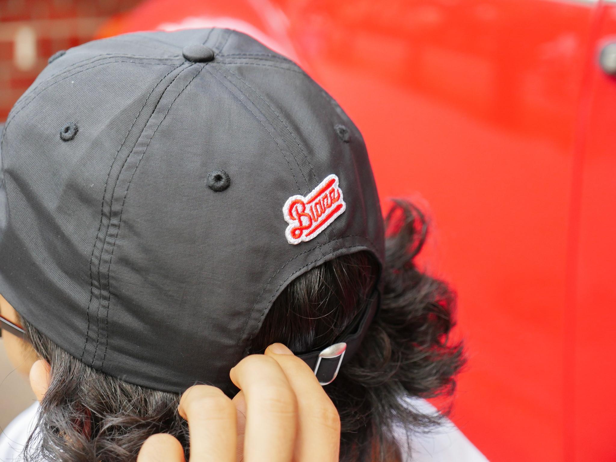 MINI LOGO NYLON B.B CAP [BLACK]