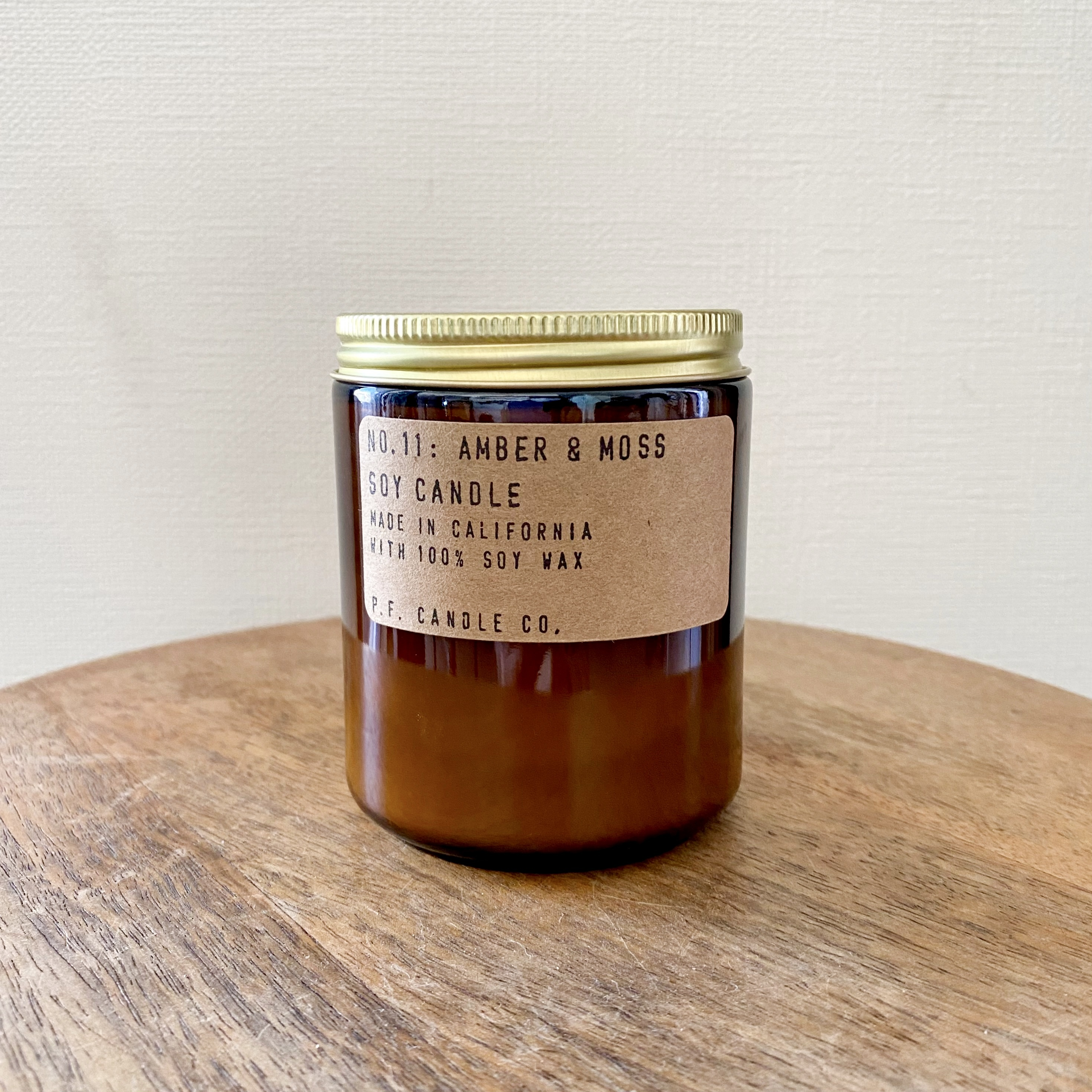 P.F.CANDLE 7.2oz Soy Wax Candle_Amber & Moss
