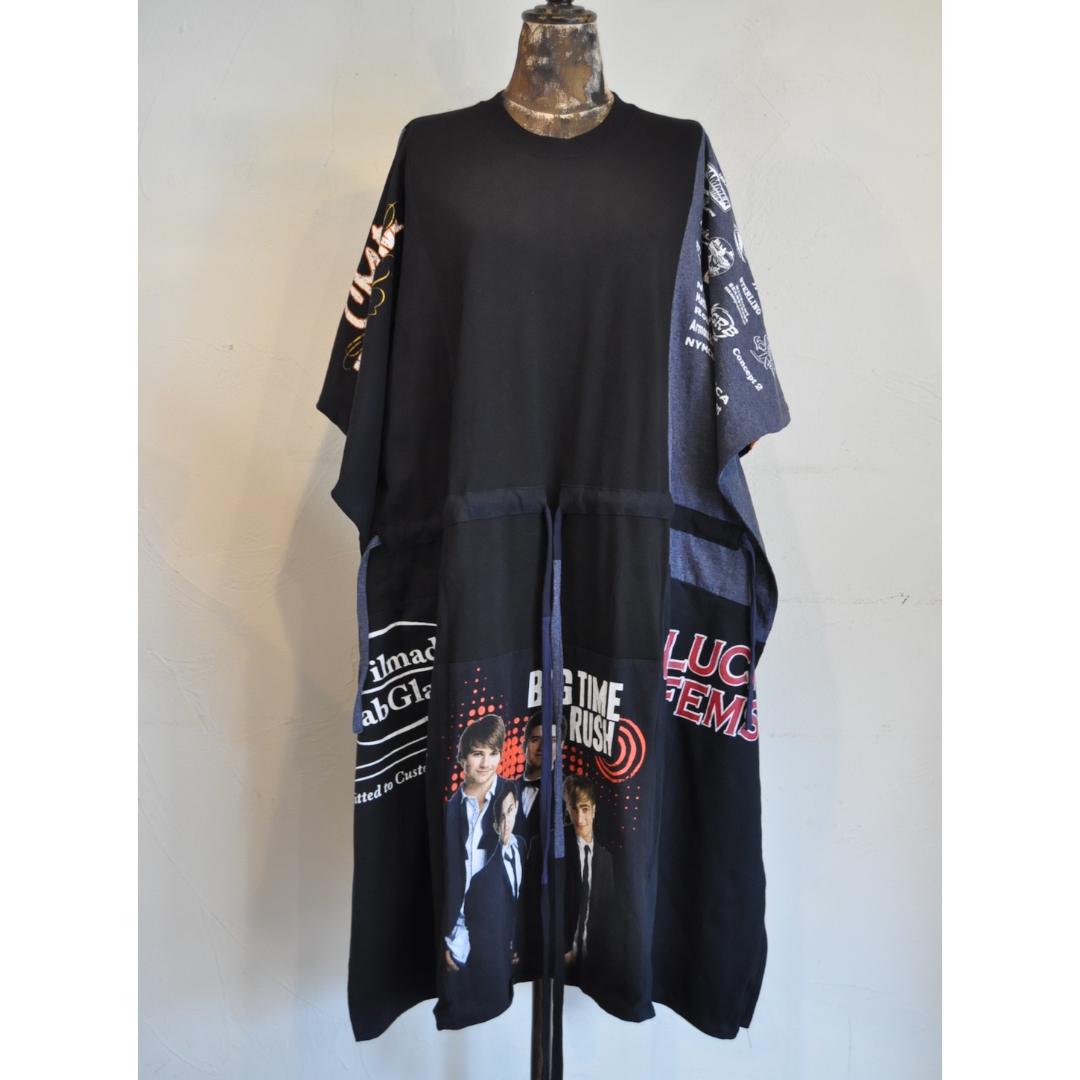 【 RehersalL 】wide Tshirt onepiece(black 11) /【リハーズオール】ワイドTシャツワンピース(ブラック 11)