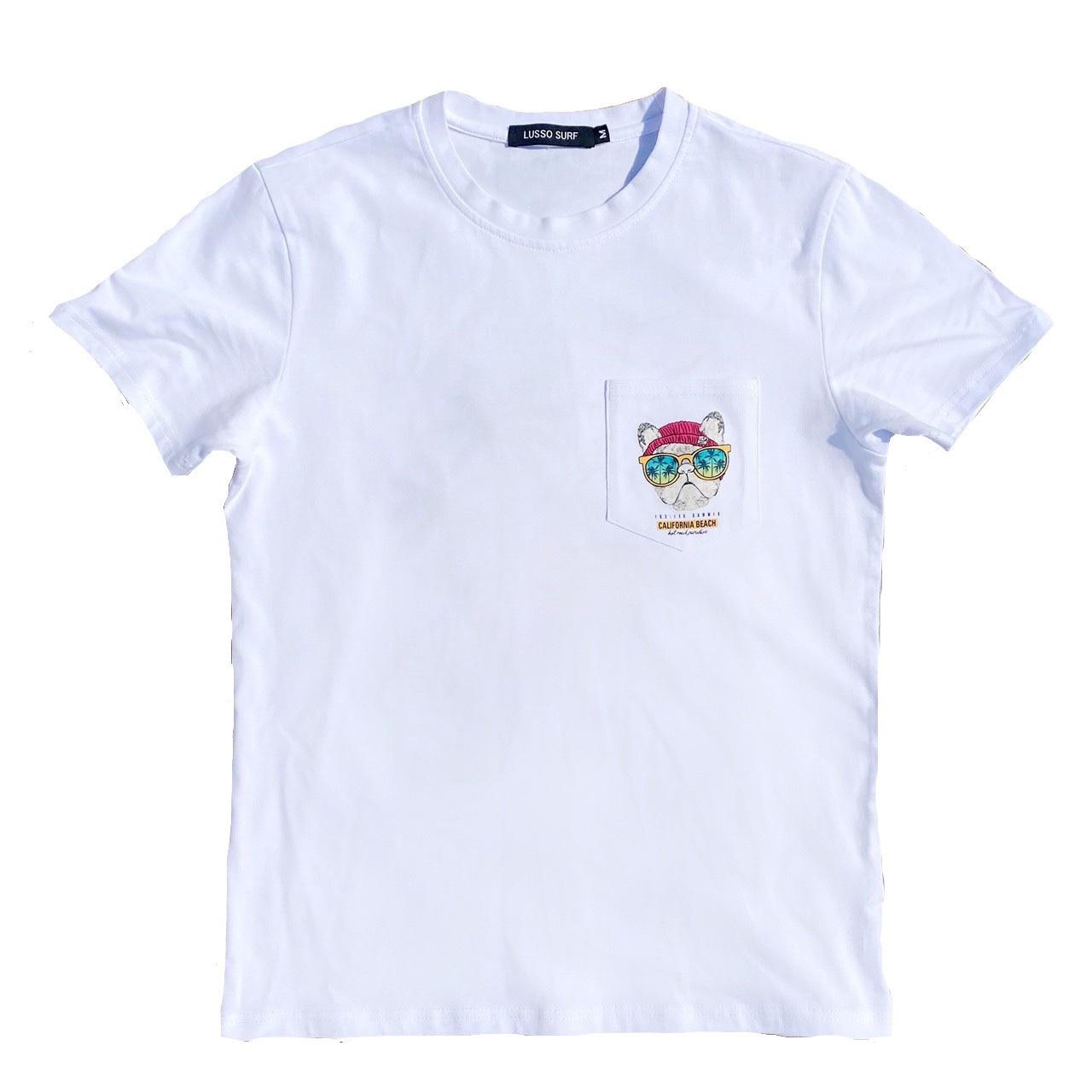 California embroidery pocket Tee