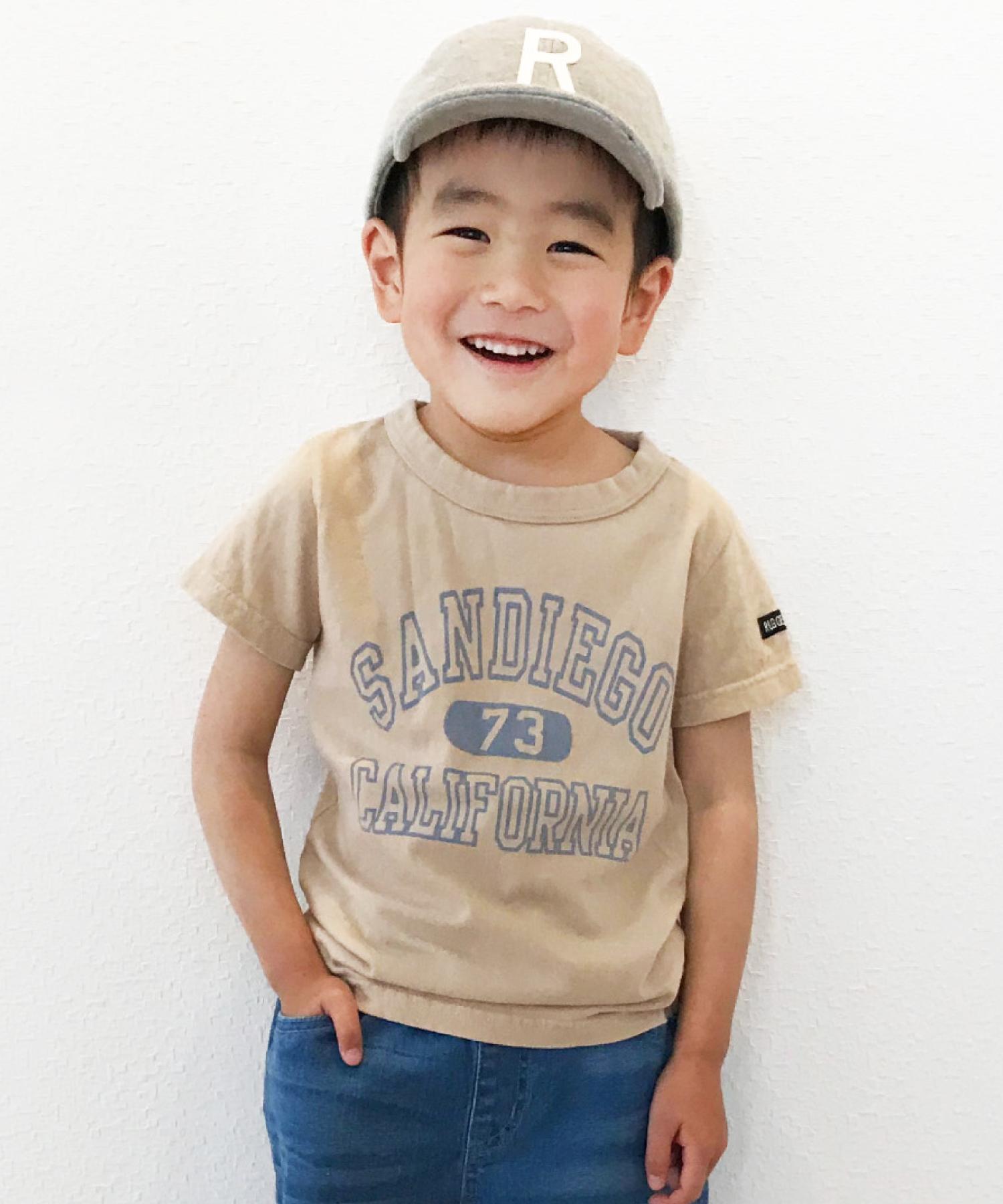 WEB先行販売 カレッジプリント半袖TEE(日本製)