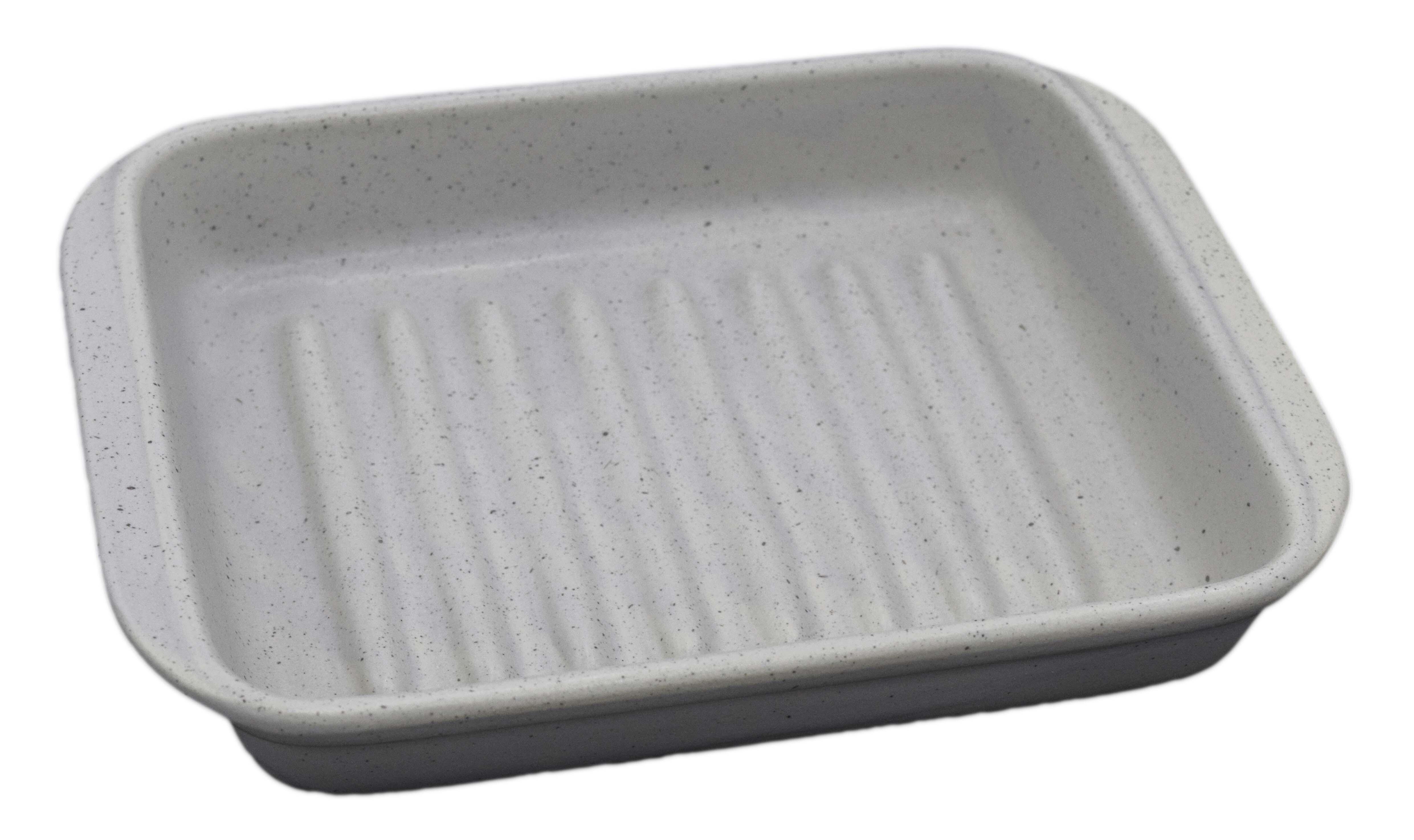 グリラーディッシュ ストーン 魚焼きグリルに入るサイズ グリル料理をそのまま食卓へ、陶器の蓄熱で温かいまま