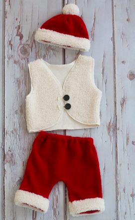ベストが可愛い♡クリスマス男の子衣装3点セット