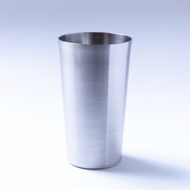 韓国ステンレス食器/コップ(大サイズ)【高さ14.2㎝/直径8㎝】