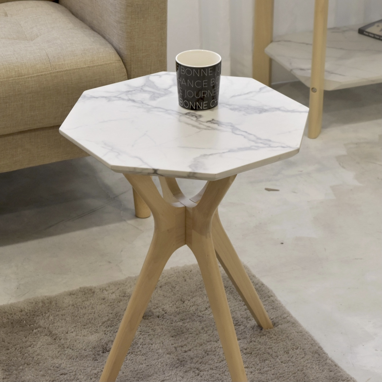 Marble Side Table  / 大理石調 サイドテーブル