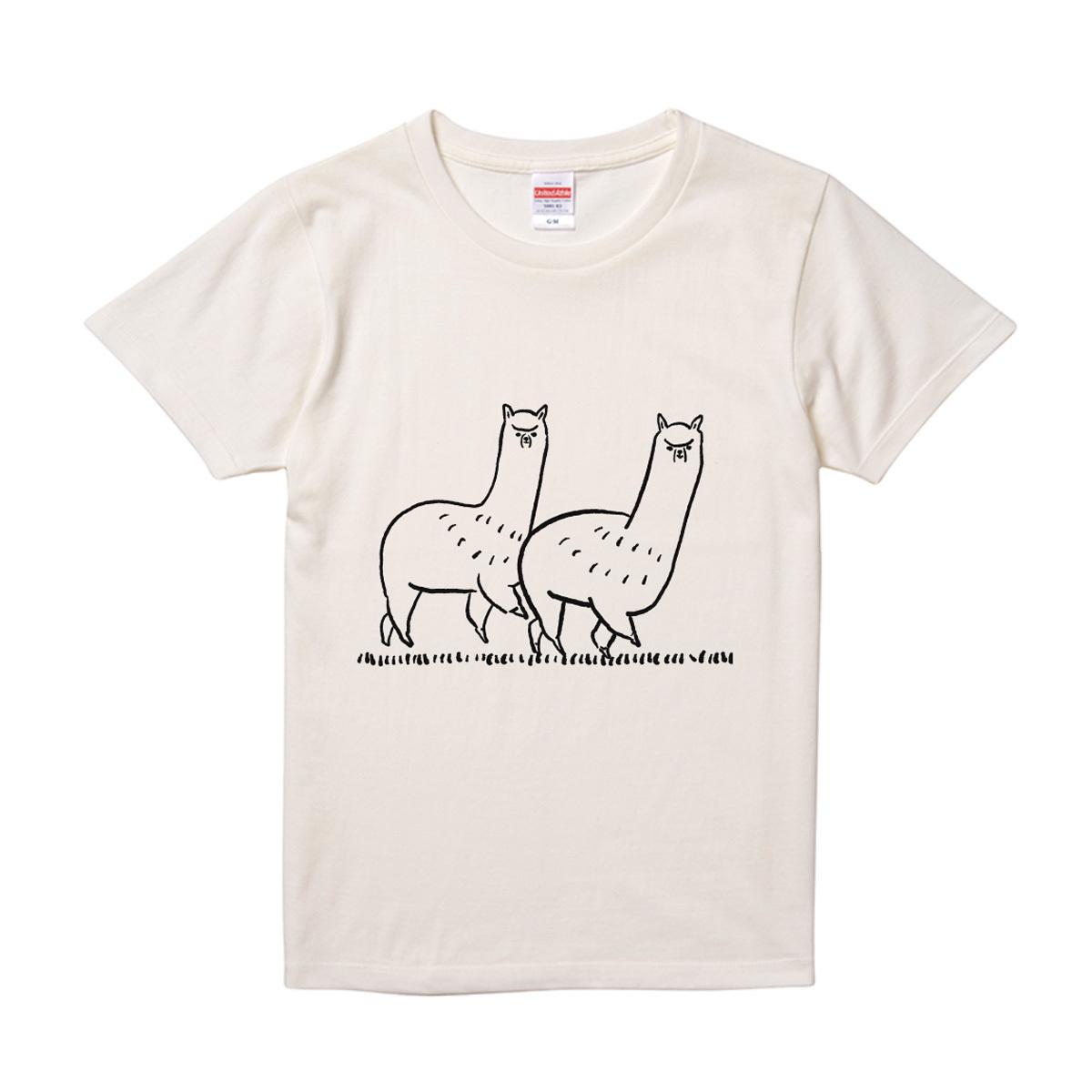 おさんぽアルパカTシャツ