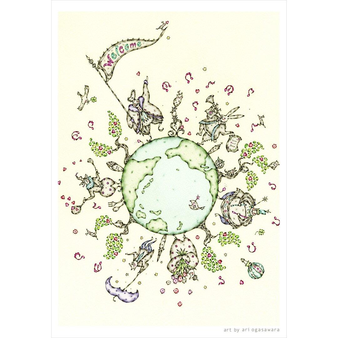 ポストカード3枚セット【 Love&Peace 】1+other 2