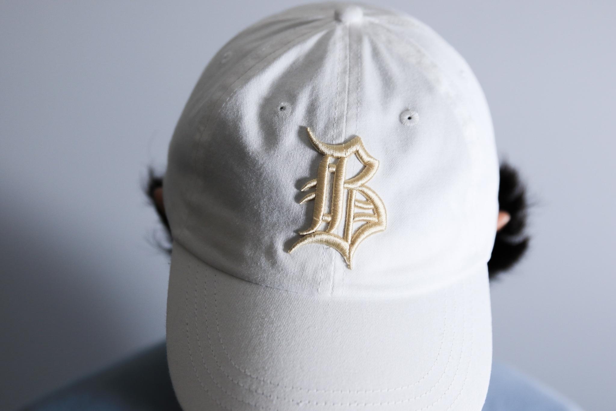 """OL""""D""""-B- PIGMENT DYE CAP [WHITE x PALE GOLD]"""