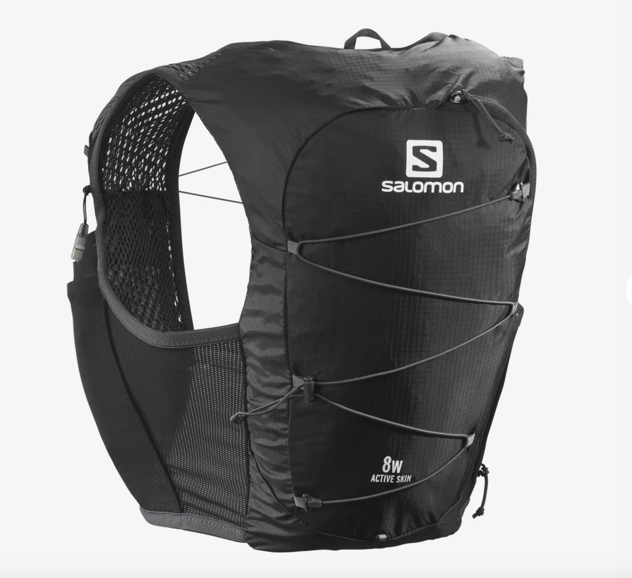 Salomon サロモン ACTIVE SKIN 8 ウィメンズ - 女性用ランニングベスト(フラスク付) ブラック(フラスク付) LC1568400 BLACK