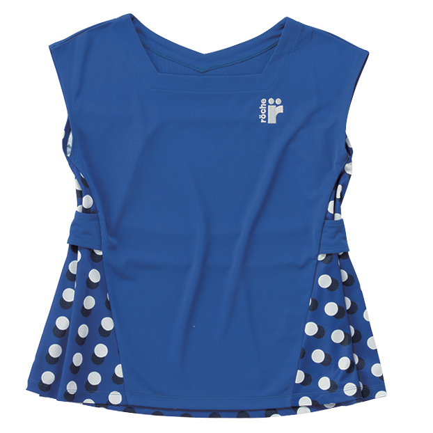 レディースゲームシャツ ブルーM【R8A31】