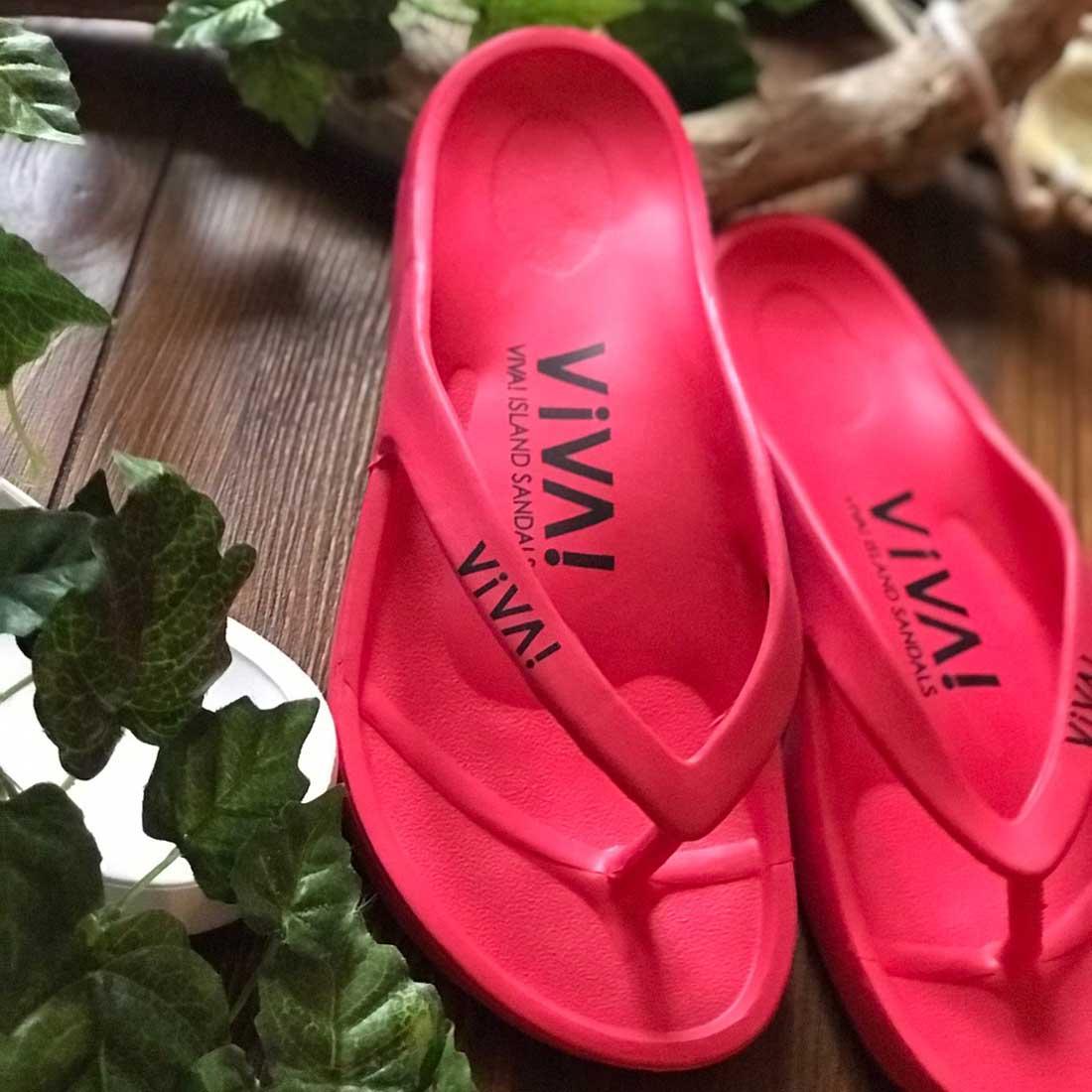 VIVA! ISLAND|ビバアイランド FLIP FLOP ビーチサンダル(レッド|V-810105_RED)