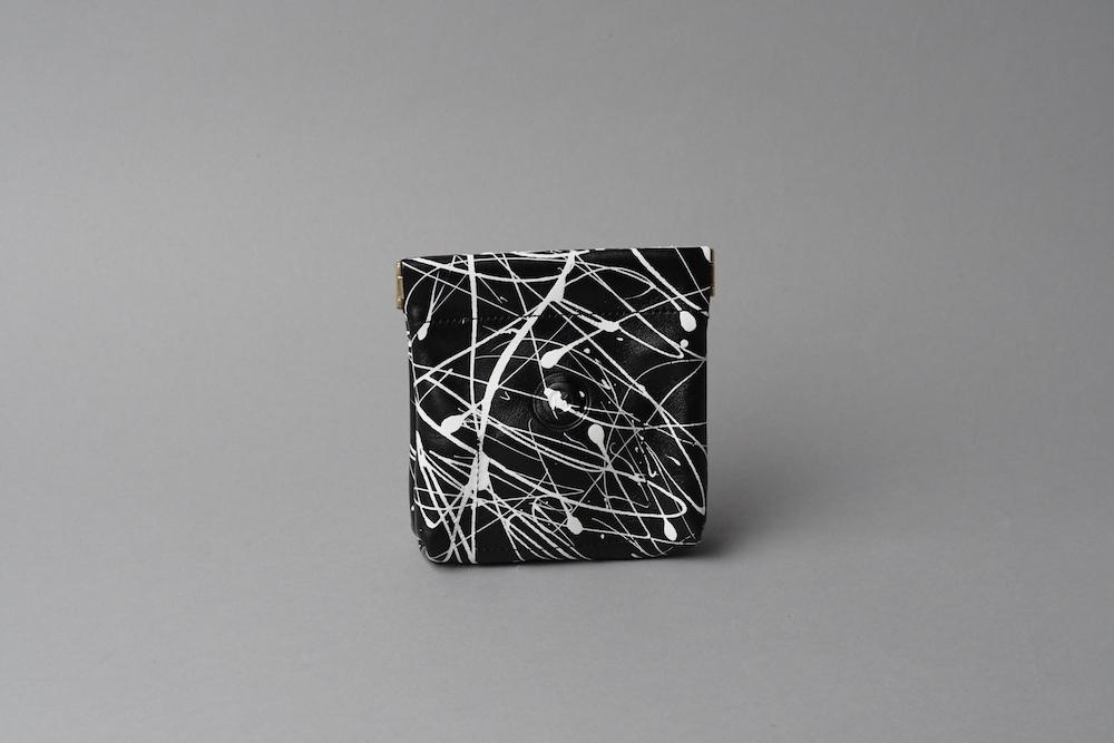 ワンタッチ・コインケース ■drip type ホワイト ブラック・ホワイト■ - 画像2