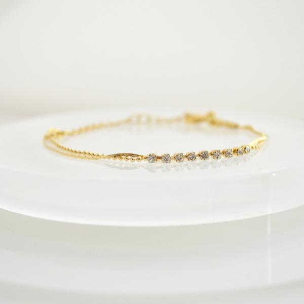 CZ two-strand Bracelet