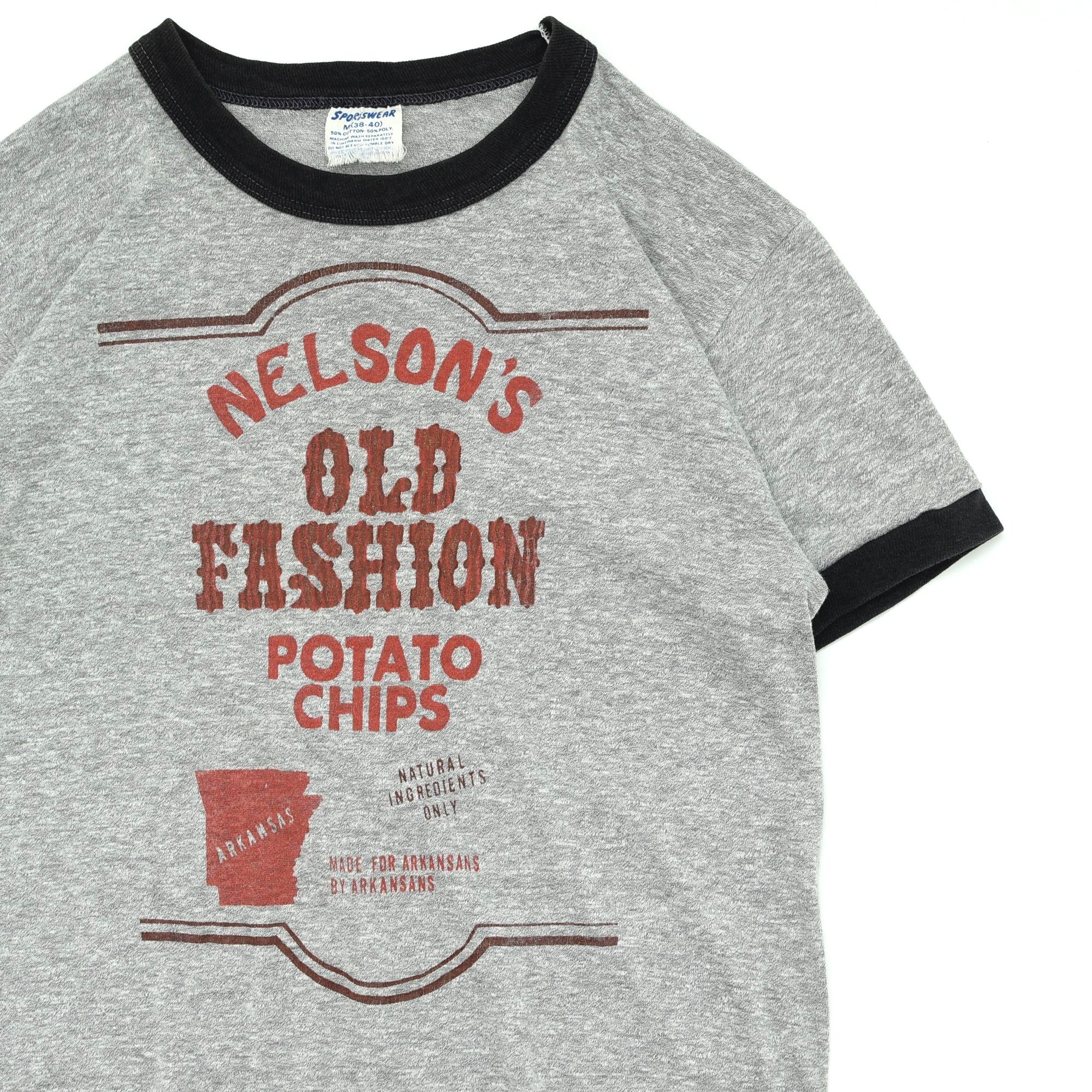 70〜80's SPORTSWEAR print ringer T-shirt