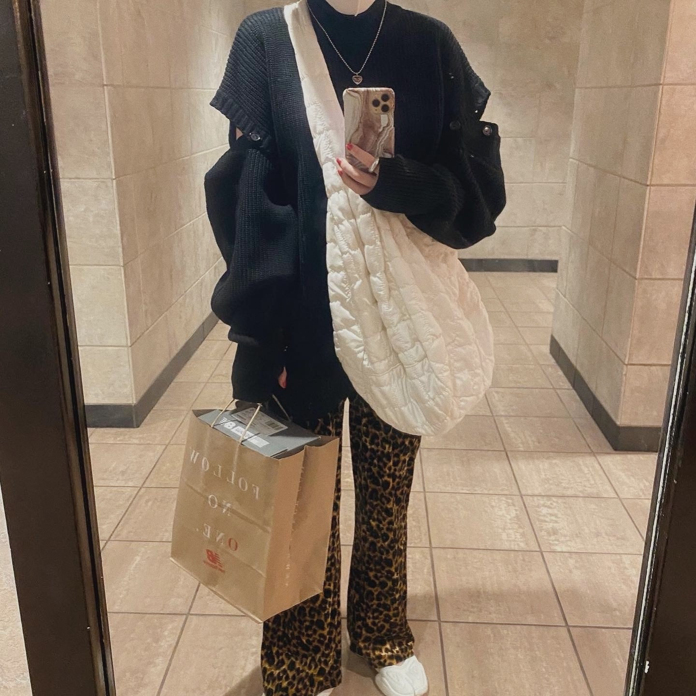 DAYNYC velours leopard pants