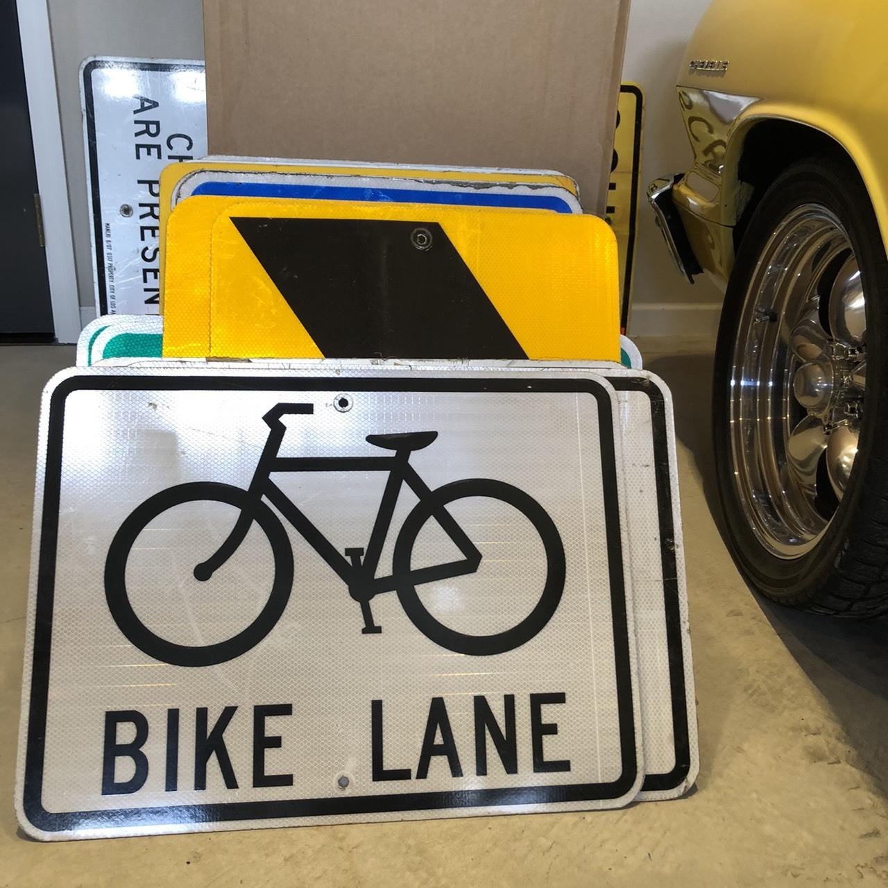 BIKE LANE 3 アメリカンロードサイン トラフィックサイン 道路標識