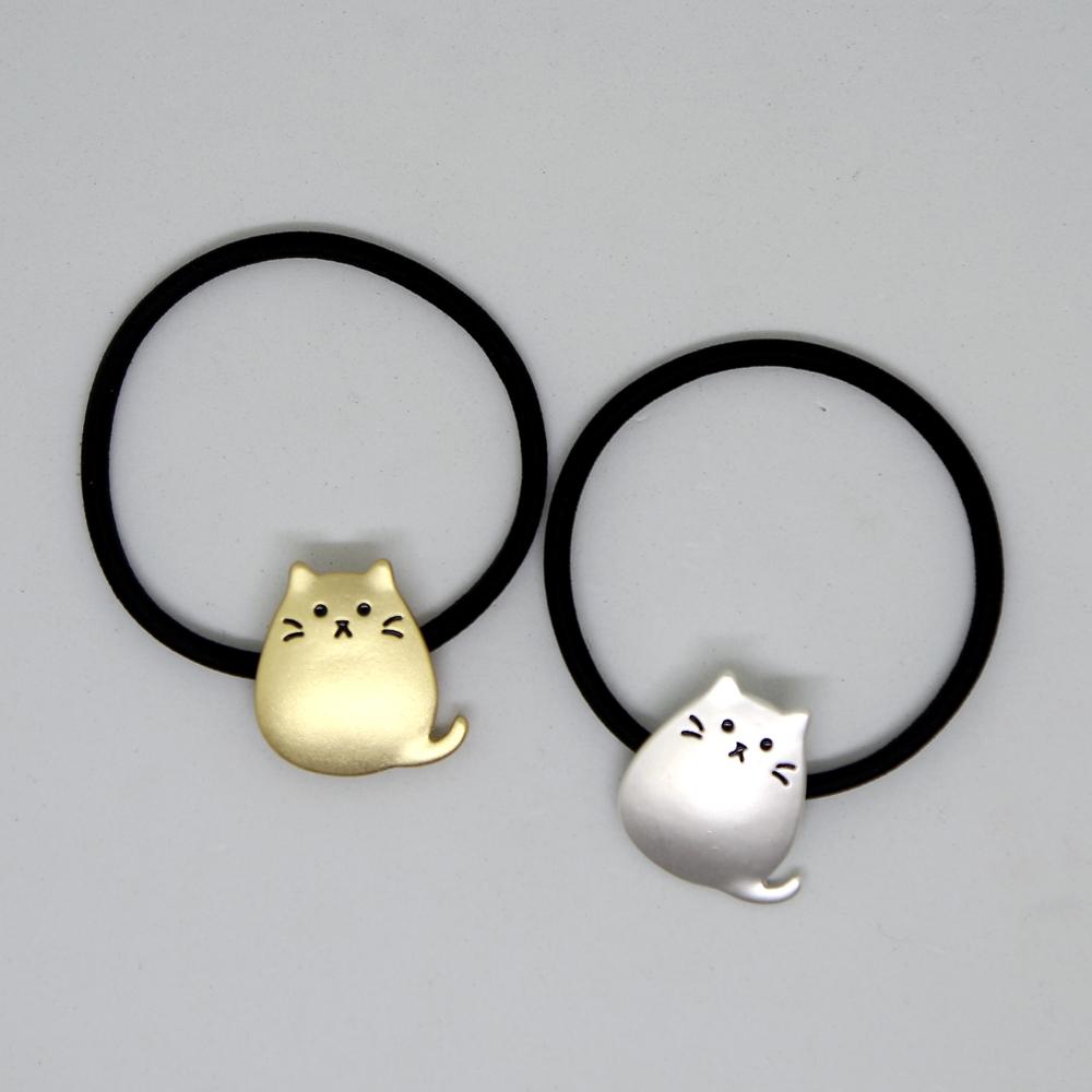 猫ヘアゴム(シンプルキャット)全2種類