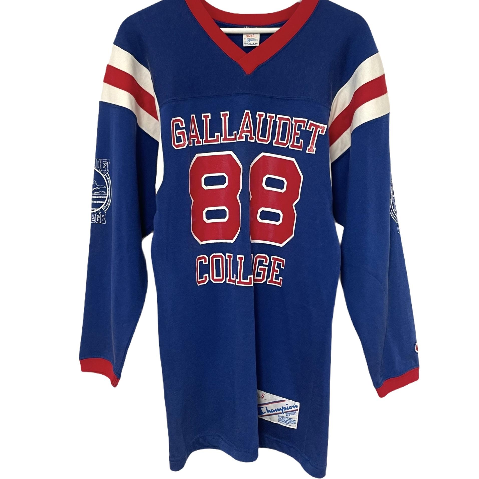 80's Champion Football T GALLAUDET COLLEGE【S】