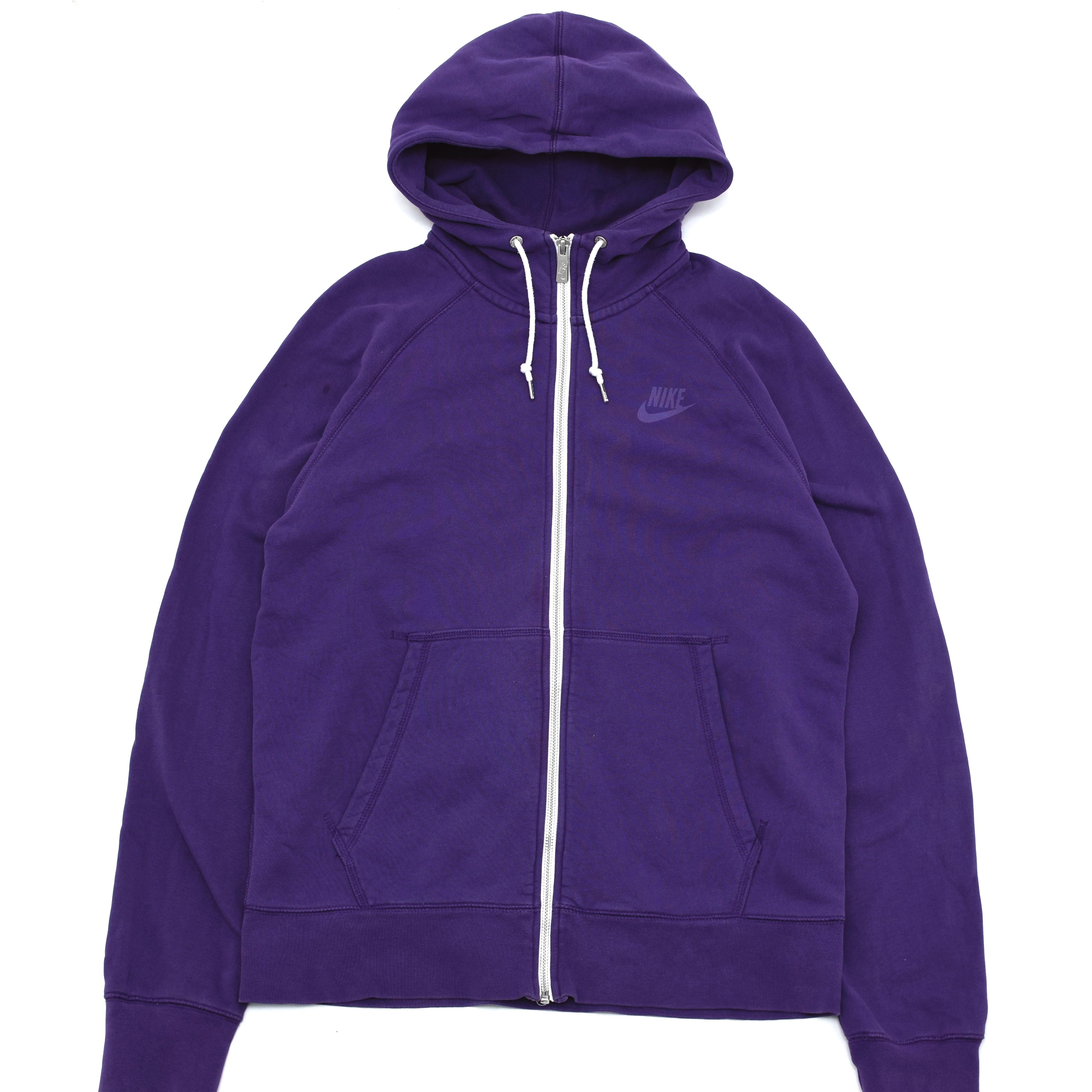 NIKE one point logo zip up hoodie