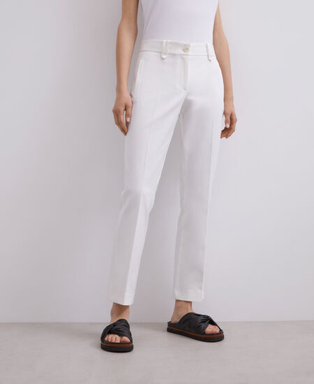 STRETCH COTTON TROUSERS [268231945111]