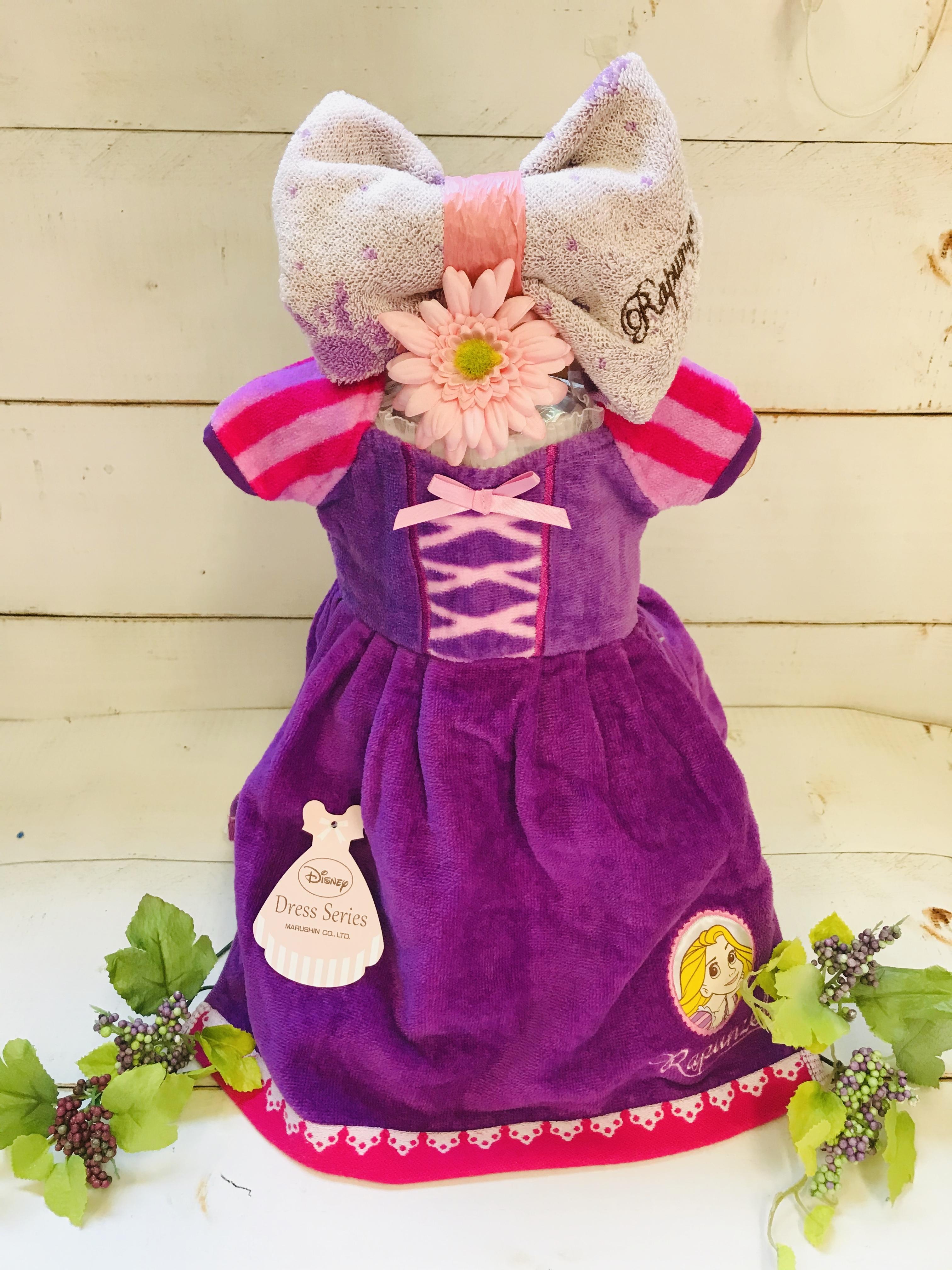 ディズニープリンセス おむつドレス(ラプンツェル) おむつケーキ  出産祝い ギフト オシャレ 個性的  かわいい  キャラクター