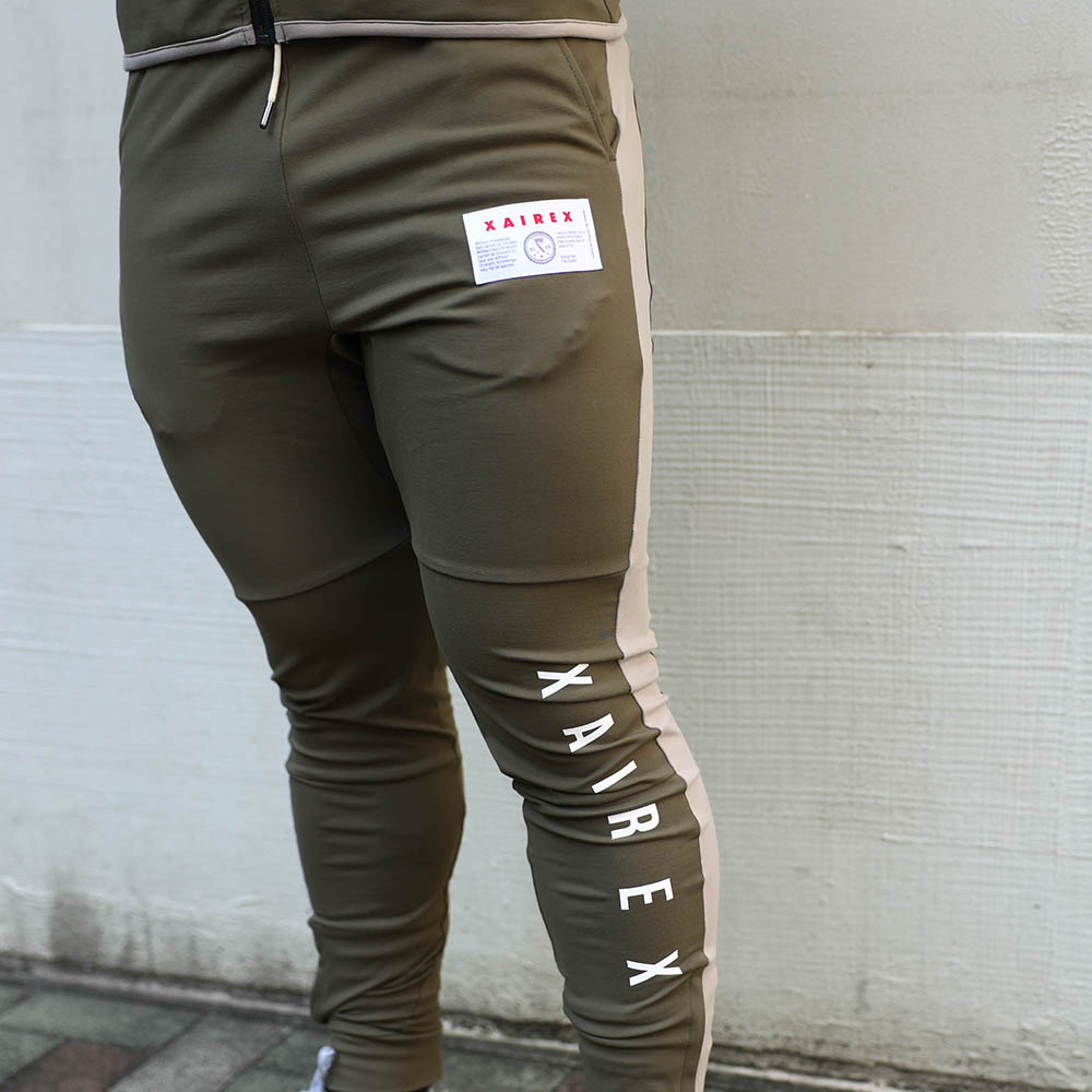 TIGHT JERSEY PANTS(KHAKI×BEIGE)[XAI-0016]
