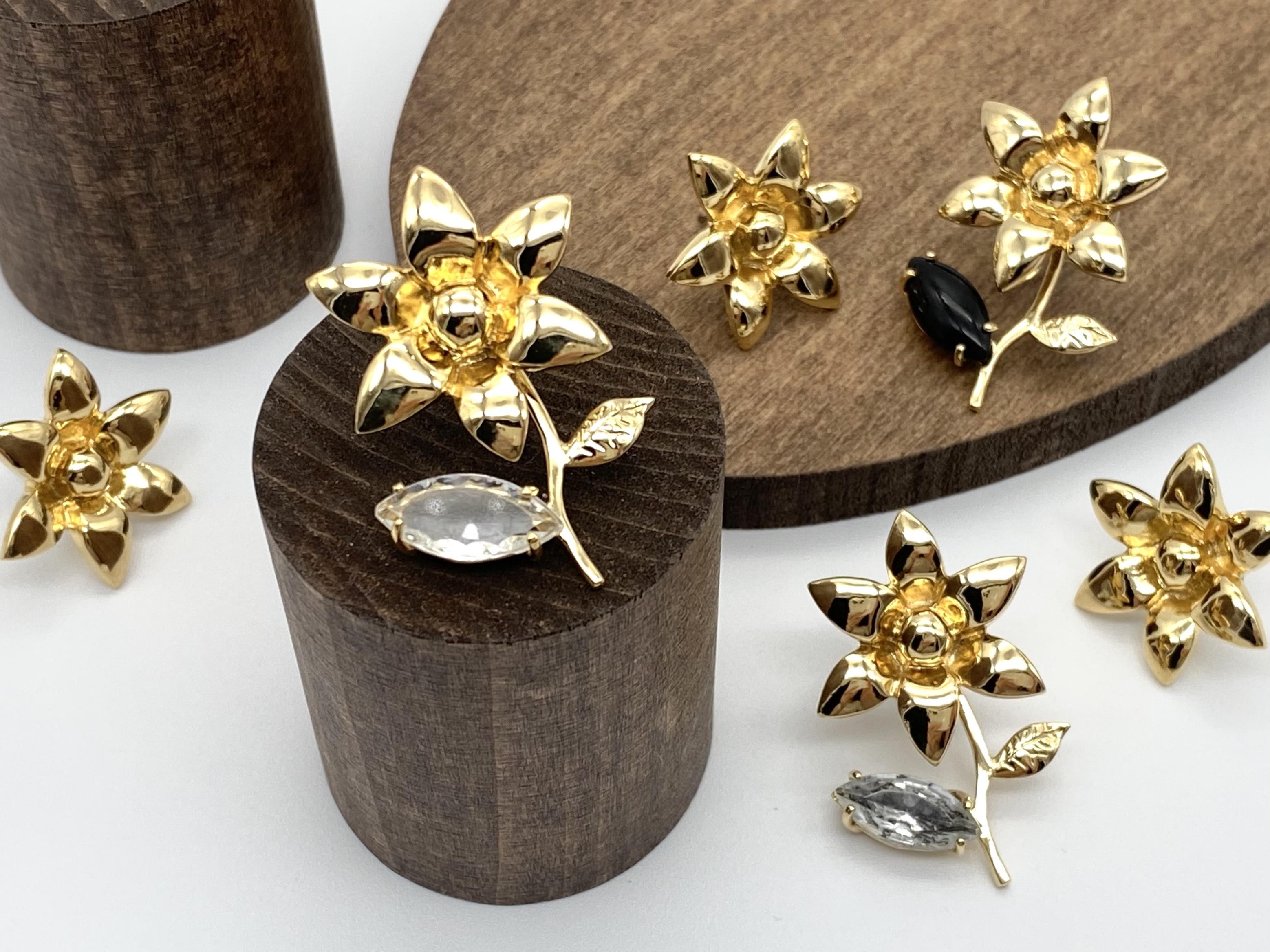 Joyeux ー gold ー [ earrings + leaf bijou ]
