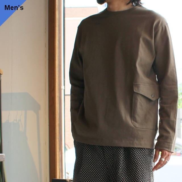 Soundman サウンドマン Holm L/S ヘビーウェイトカーゴポケットTee長袖 417M-062Q Khaki green