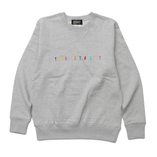 MULTI COLOR LOGO CREW SWEAT #T.GREY