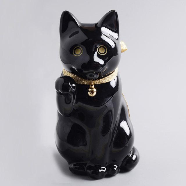 へそくりの招き猫 ブラック / Manekineko Bank Black