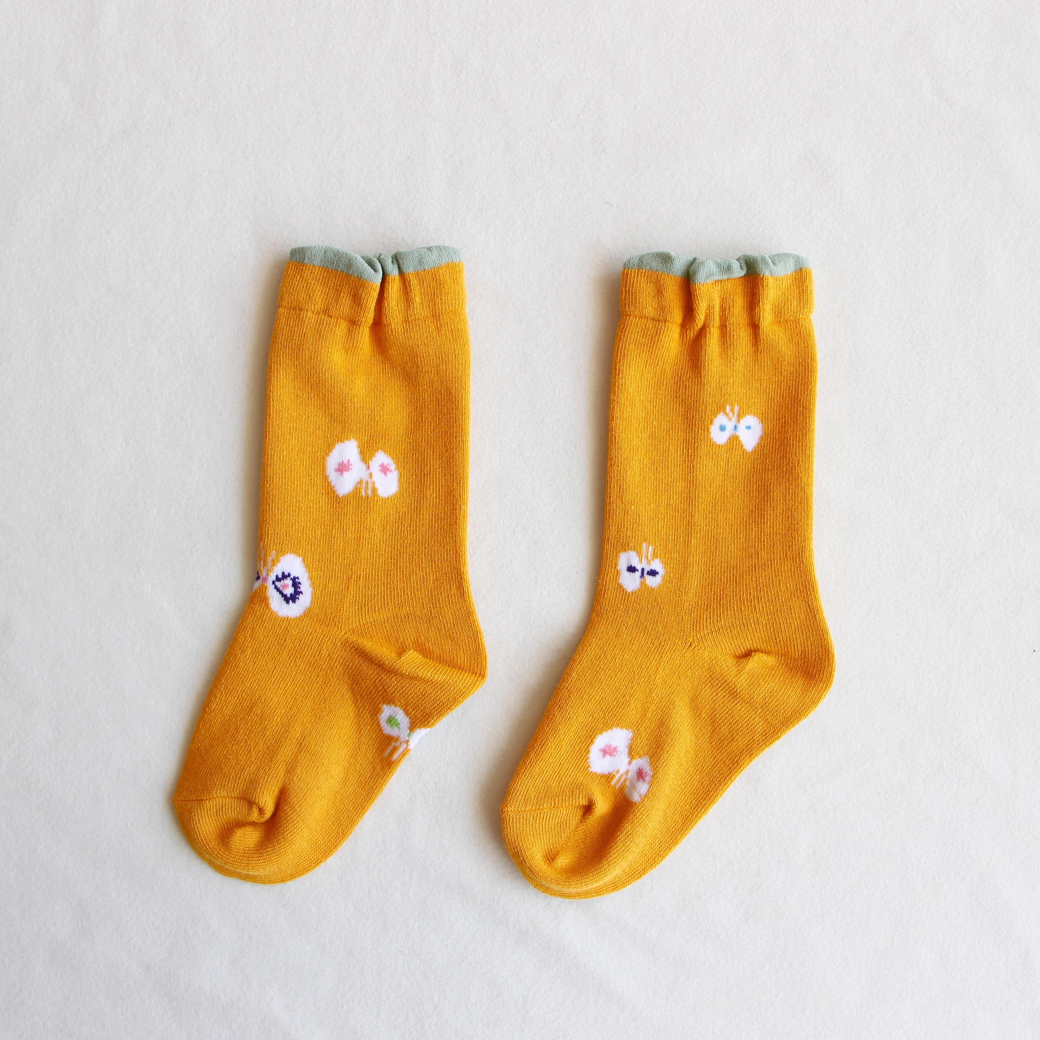 《mina perhonen》hana hane ソックス / yellow / 13-21cm