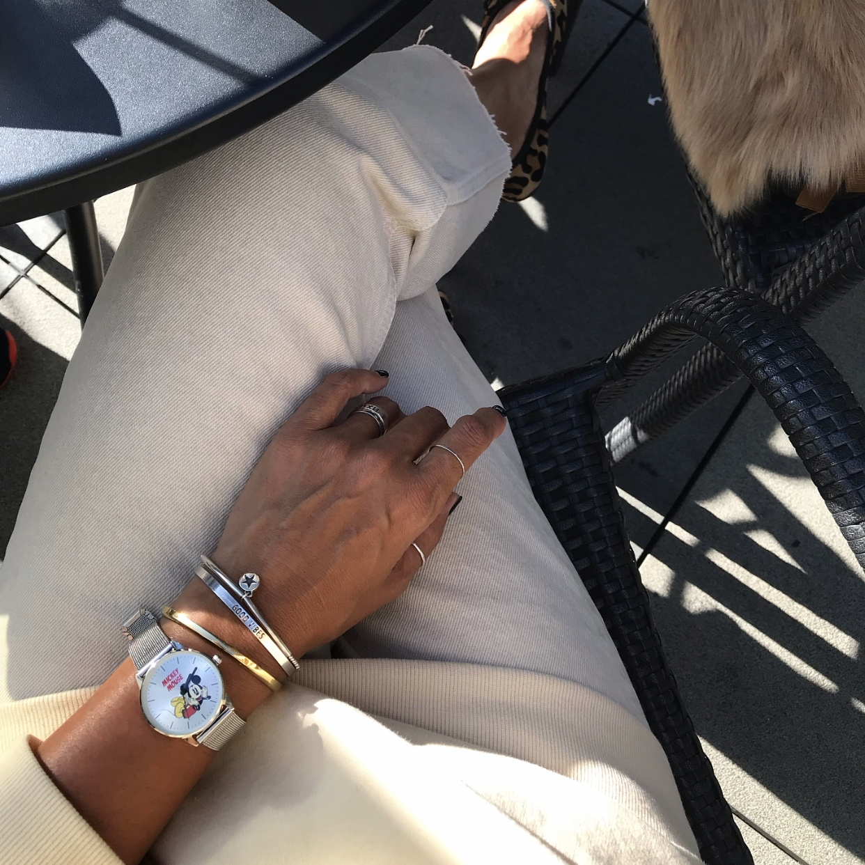 W Face bracelet / Star&Smiley / bars / silver