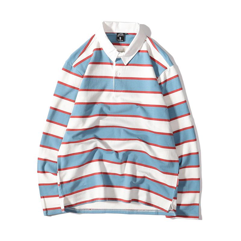 【UNISEX】ボーダー ニット ラガーシャツ【2colors】